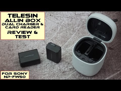 Telesin Allin Box (Sony NP-FW50) Charger/Card Reader: Test