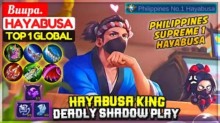 Hayabusa King Deadly Shadow Play [ Top 1 Global Hayabusa ] Buupa. - Mobile Legends