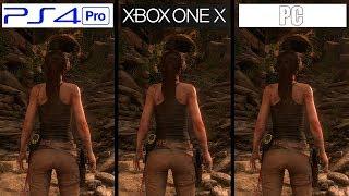 Rise of The Tomb Raider | Xbox One X VS PC VS PS4 Pro | 4K Comparison | Comparativa