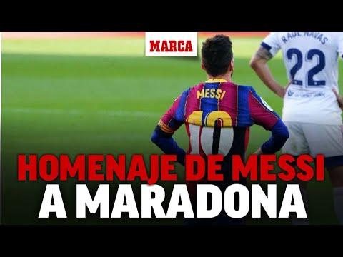 Así Fue El Homenaje De Messi A Maradona I Marca Youtube