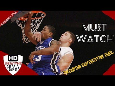 Derrick Rose vs Blake Griffin Freshman Duel Full Highlights 15.11.07 -  D-ROSE 17, Griffin 8 Pts!