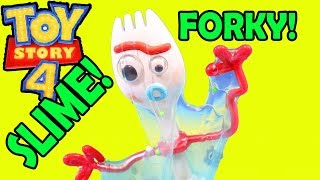 Toy Story 4 + Forky Gets Slimed ! Buzz Lightyear galactic Slime