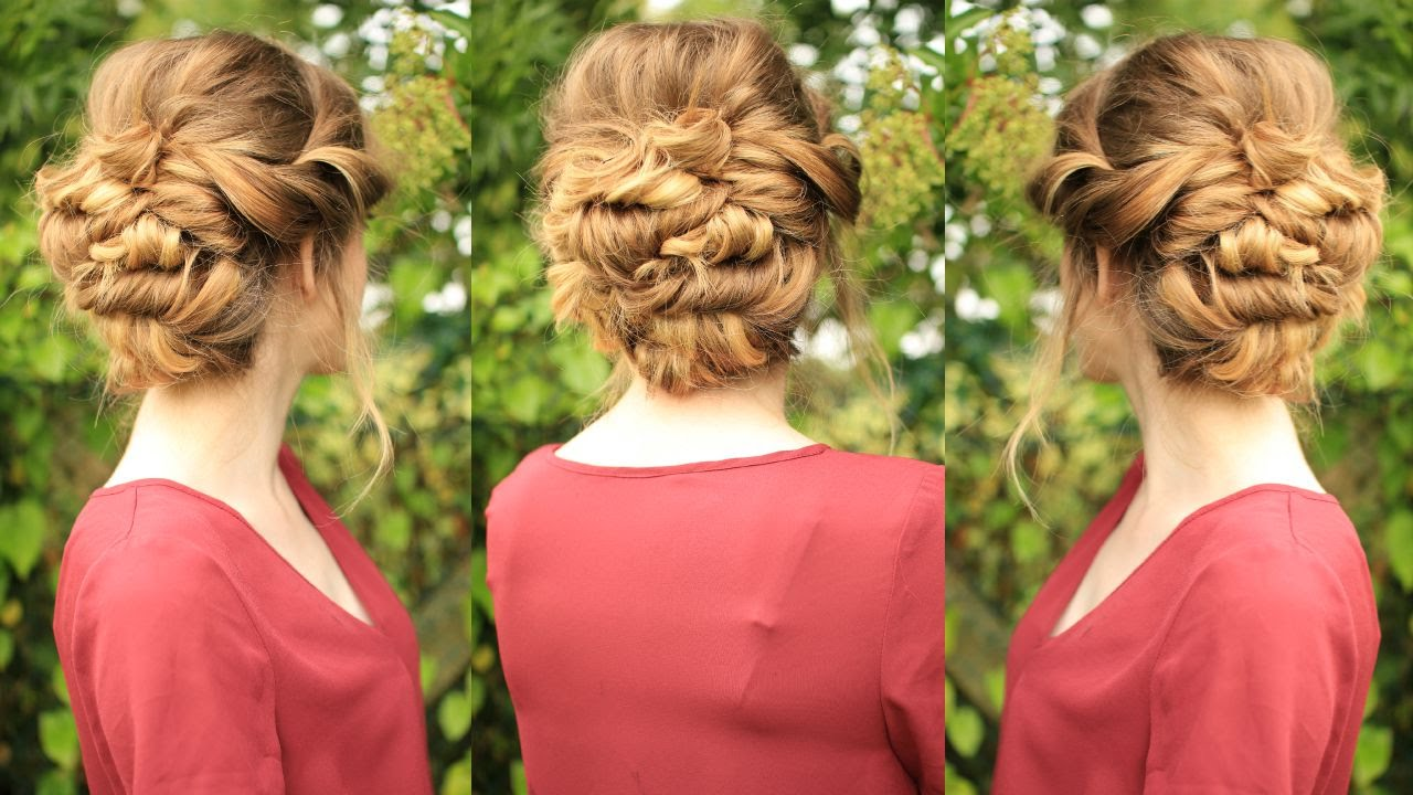 soft updo hairstyle bridal / bridesmaid updo | braidsandstyles12