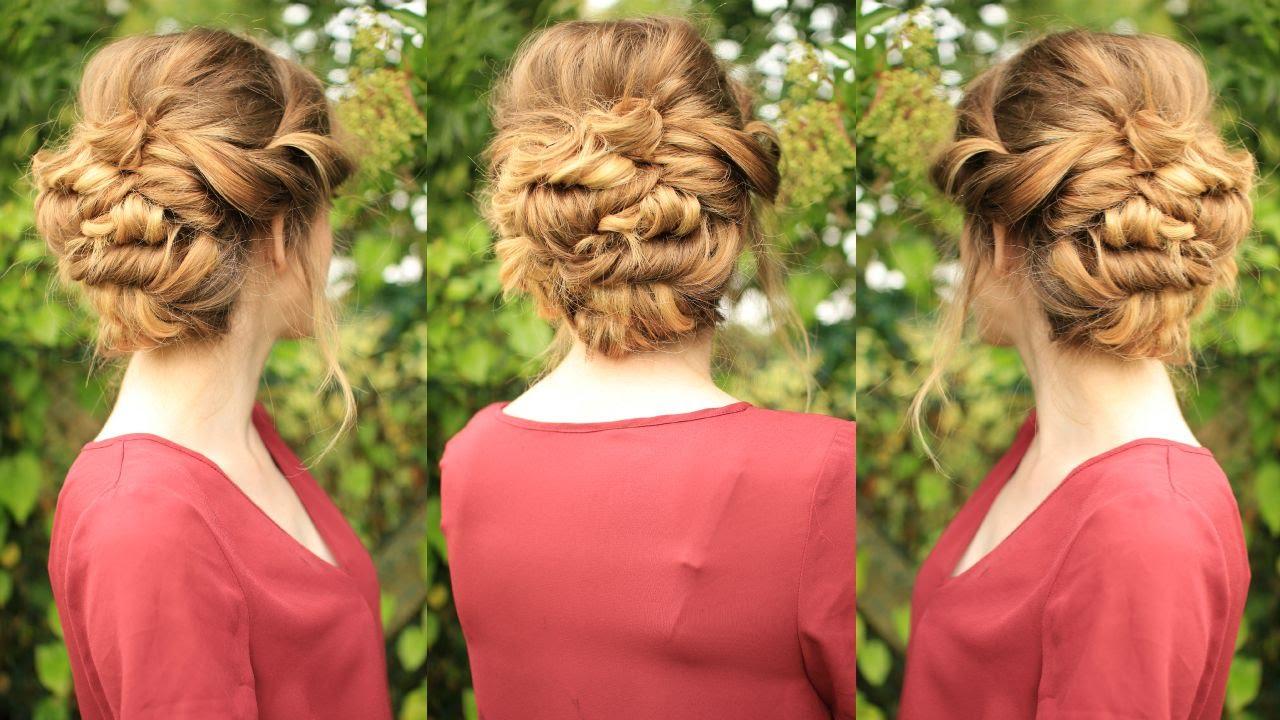 Soft Updo Hairstyle Bridal Bridesmaid Updo Braidsandstyles Youtube