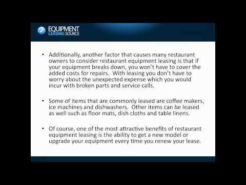 Restaurant Equipment Leasing