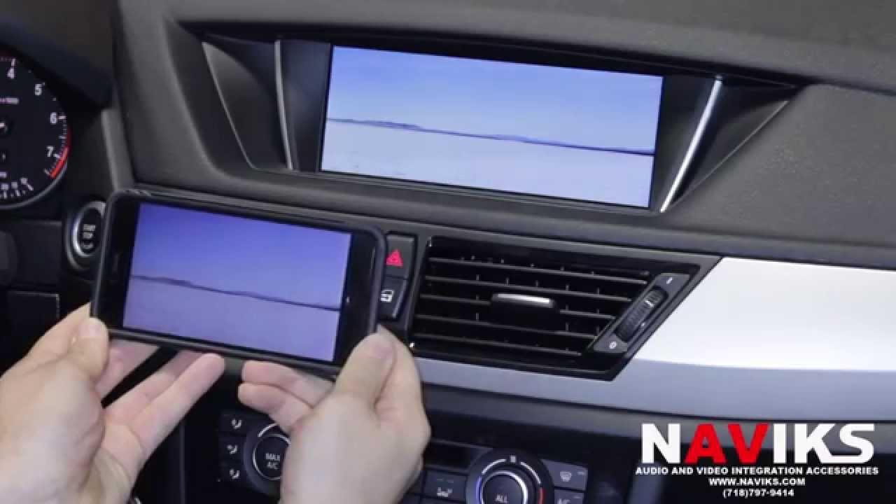 e3c1dacb426c BMW X1 E84 2015 NAVIKS Video Integration Added  NAVIKS Miracast + ...
