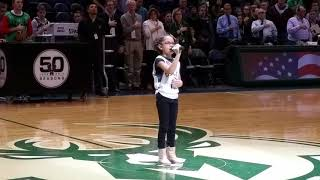9 yr old CRUSHES the National Anthem