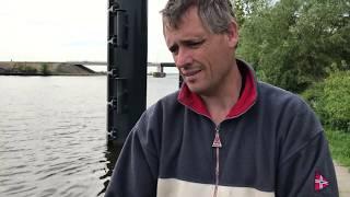Magneetvisser op de loswal