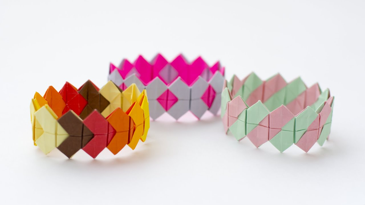 Bracelet tutorial. Origami bracelet easy. Paper bracelet ... - photo#44
