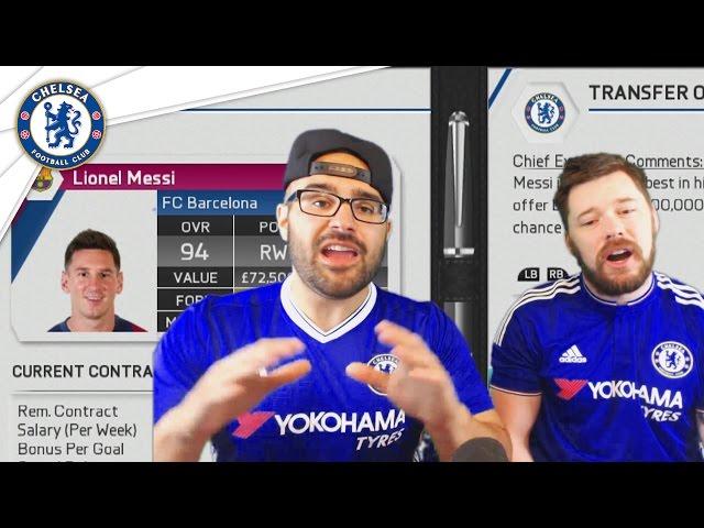 BUYING MESSI! Chelsea Fifa 16 Career Mode Co-op #01