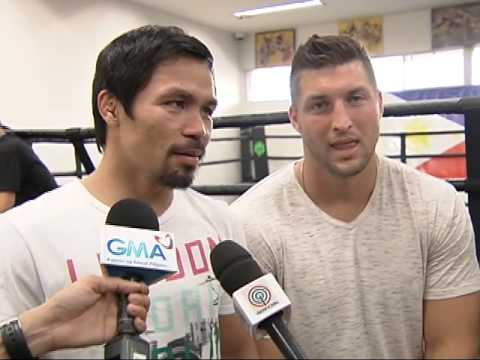 Manny Pacquiao and TIm Tebow