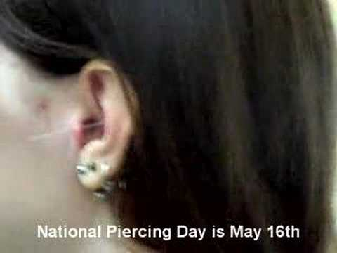National Piercing Day is May 16th! (Tragus Piercing)