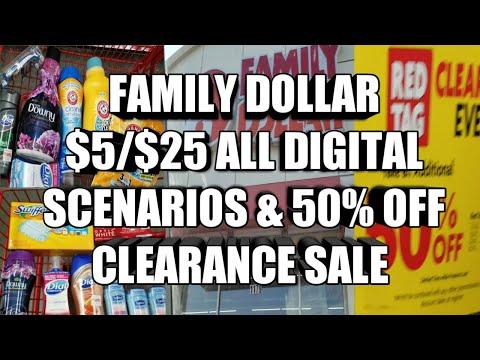 FAMILY DOLLAR $5/$25 ALL DIGITAL SCENARIOS. ALSO 50% CLEARANCE SALE