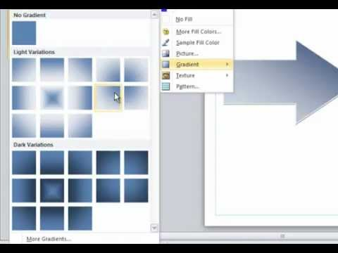 Tutorial On Using Fill Gradients In Publisher 2010 Youtube