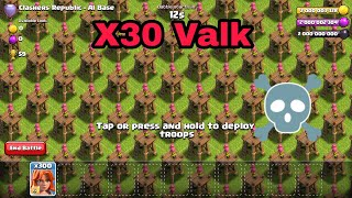 X30 Valkyrie Max Level Vs Archer Tower Level Full Base On