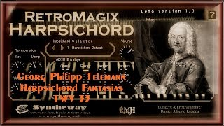 Fantasia For Harpsichord No.12 (Georg Philipp Telemann) Syntheway RetroMagix Harpsichord VSTi