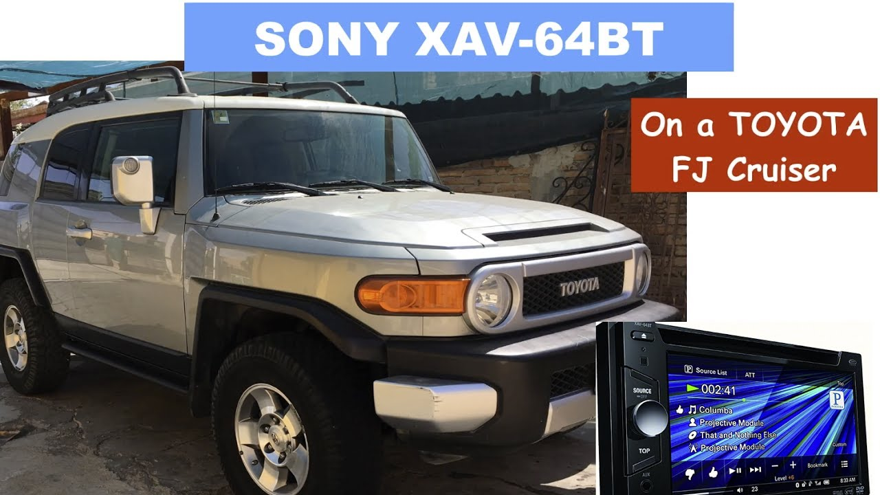 toyota fj cruiser stereo replacement removal for sony xav 64bt audio upgrade youtube. Black Bedroom Furniture Sets. Home Design Ideas