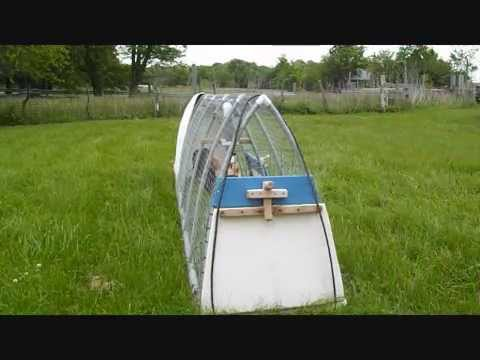 Small Easy To Build PVC Chicken Tractor, Homemade Mobile Coop Home