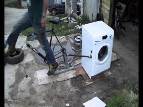Bike Washing Machine >> Bicycle Powered Washing Machine Alternative Spin Class Youtube