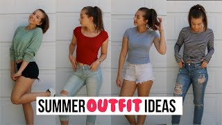 4 SUMMER LOOKS ON ONE PERSON (Summer OOTW)