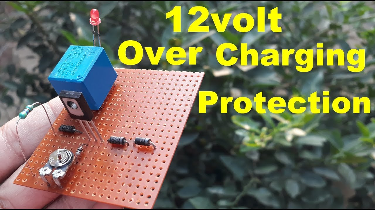 small resolution of 12volt battery overcharge protection circuit diagram