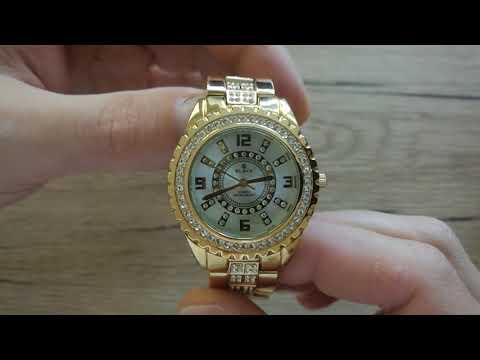 Dámské ocelové hodinky s bílým ciferníkem SLAVA a kamínky Swarovski SL 10015 9a3207e66c