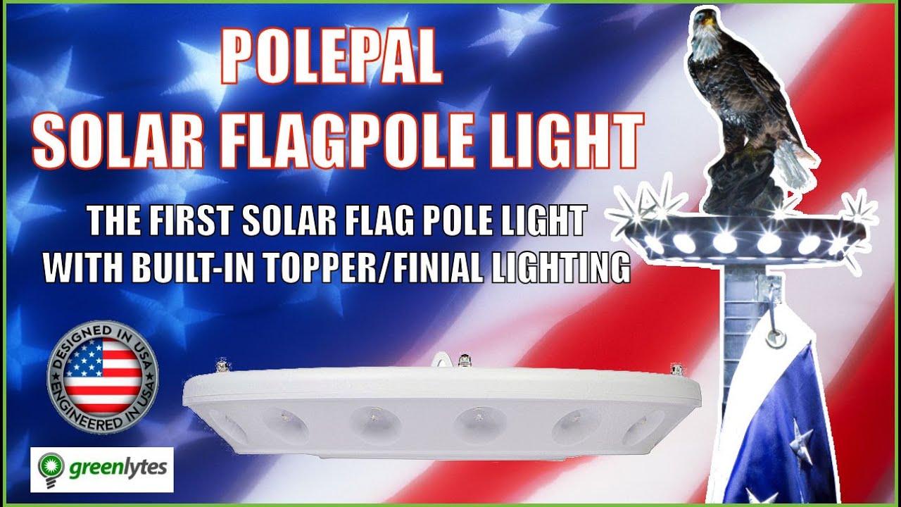 Polepal Solar Light For Flagpole | Flag Light | Greenlytes