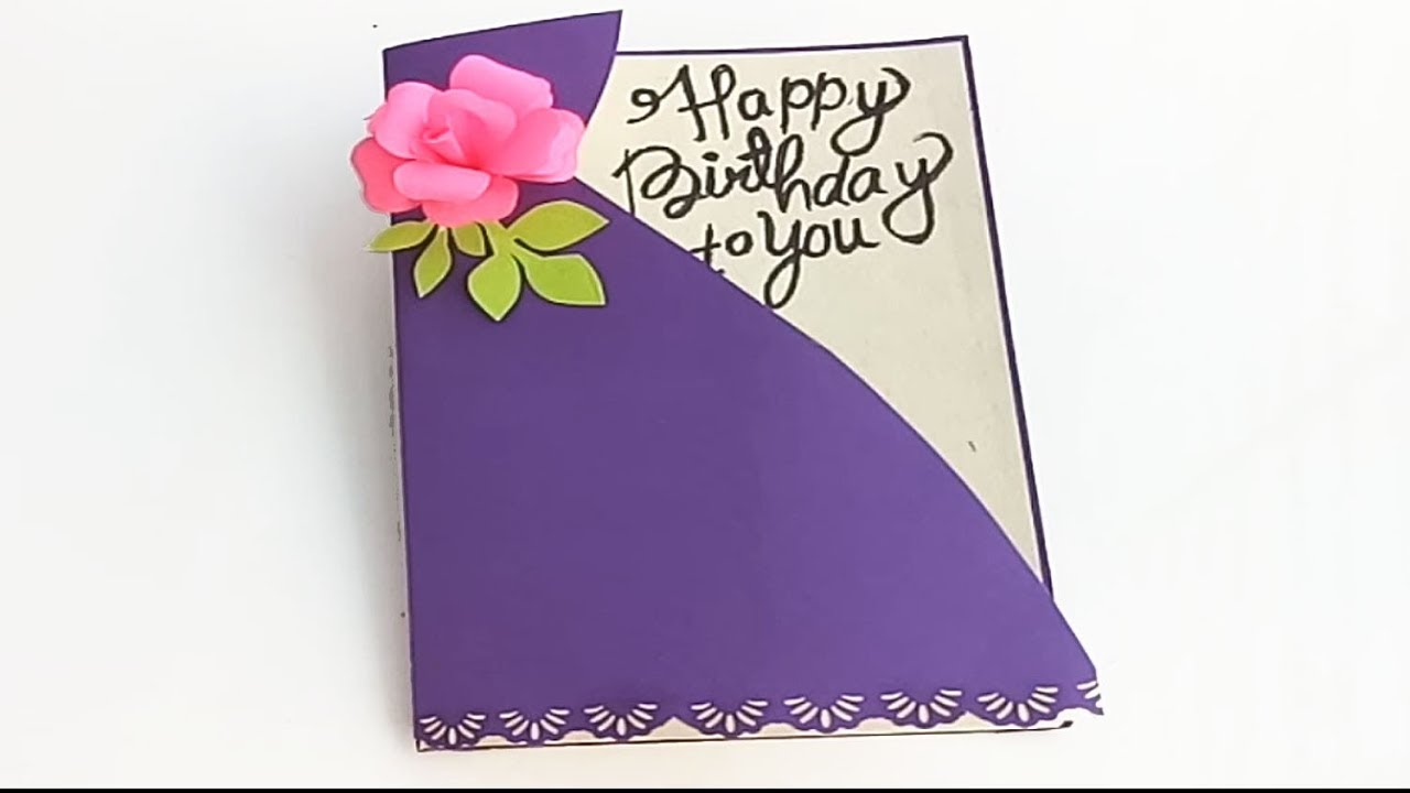 Sister Happy Birthday cards ideas| DIY Birthday card | complete tutorial