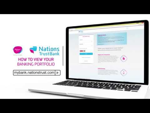 Nations Trust Bank Online Banking - How To View Your Banking Portfolio
