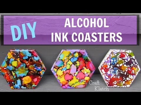 DIY Alcohol Ink Coasters ~ Craft Klatch ~ Another Coaster Friday #AnotherCoasterFriday