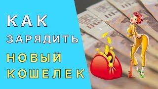 как зарядить новый кошелек  Как правильно подготовить новый кошелек к принятию денег