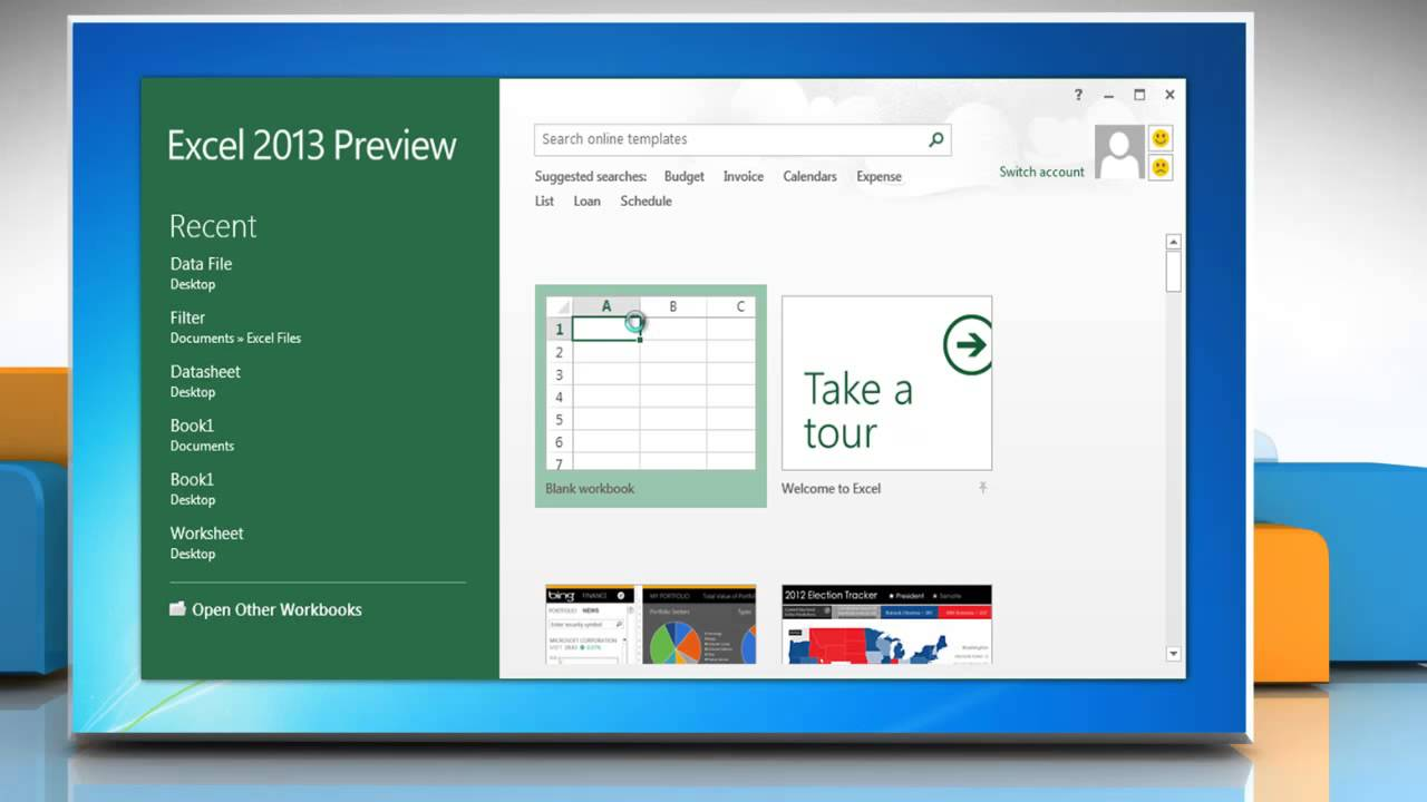 how to find temporary excel files on windows 7