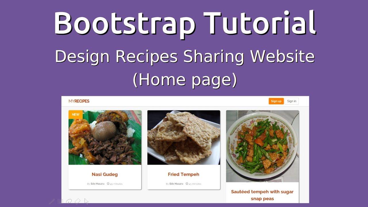 Bootstrap 3 tutorial design minimalist recipes sharing website bootstrap 3 tutorial design minimalist recipes sharing website forumfinder Gallery