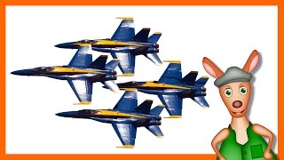 JET PLANES: Plane videos for kids. Kids Videos. Preschool & Kindergarten learning.