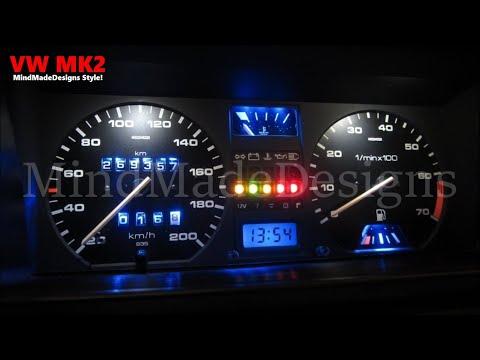 How to Make Car Cluster Dash LED Light Mileage VW Golf 2 / Jetta 2