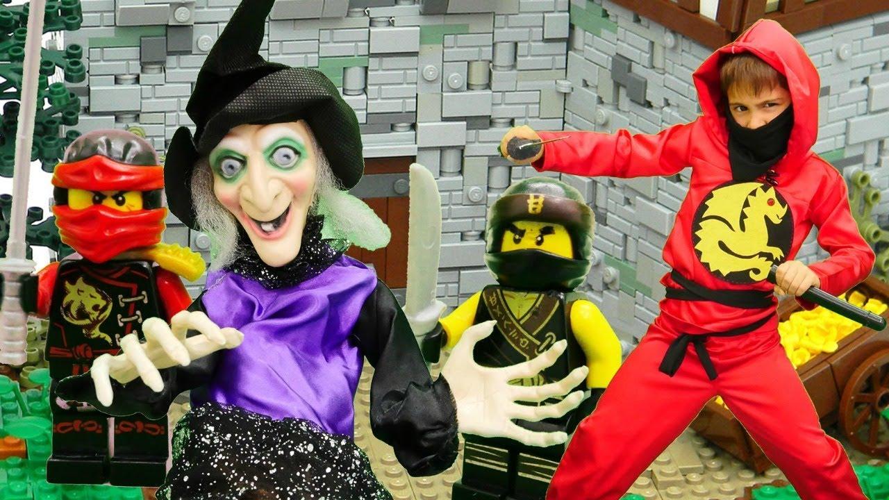 Ниндзяго идут на вечеринку Хэллоуин! Видео для детей - YouTube
