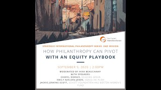How Philanthropy Can Pivot with an Equity Playbook
