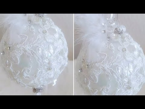 FANCY VICTORIAN BLING AND GLAM DIY LUXURY ORNAMENT