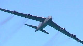 B-52 Stratofortress Long Range Strategic Bomber Off Miami Beach, 2017
