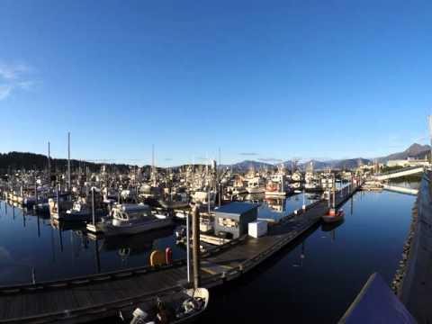 Kodiak Alaska Boat Harbor Time lapse
