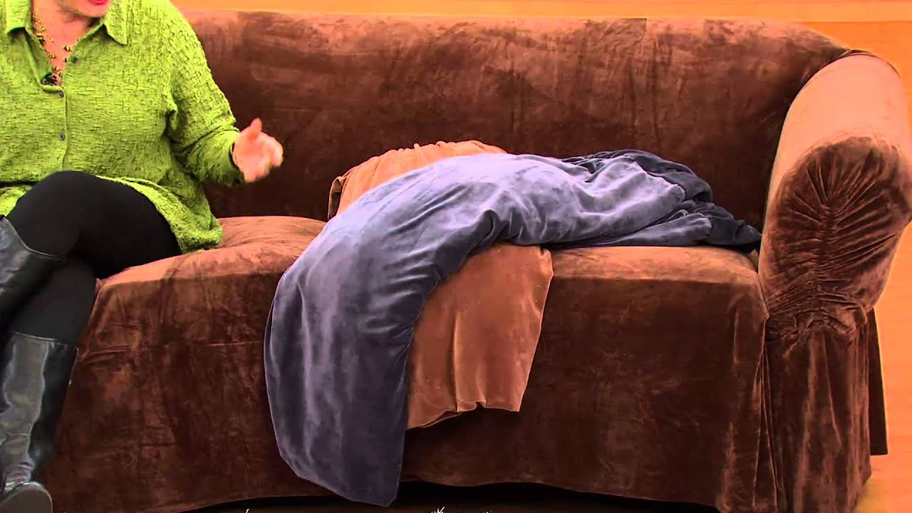 Sure Fit Stretch Plush Sofa Furniture Cover with Amy Stran