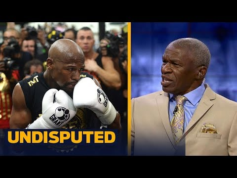 Floyd Mayweather Sr. on if 8 oz. gloves help his son or Conor McGregor more | UNDISPUTED