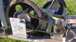 Tourne broche fabriqué à partir vélo elliptique. Partie 1