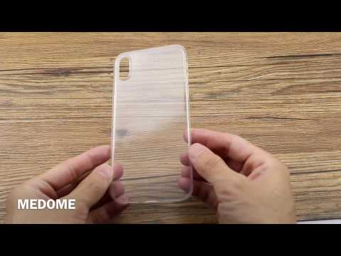 iPhone X ultra thin ultra clear PP+TPU case, grips better than TPU never turn yellow