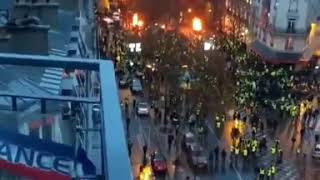 France looking like a war zone after Gilets Jaunes protests