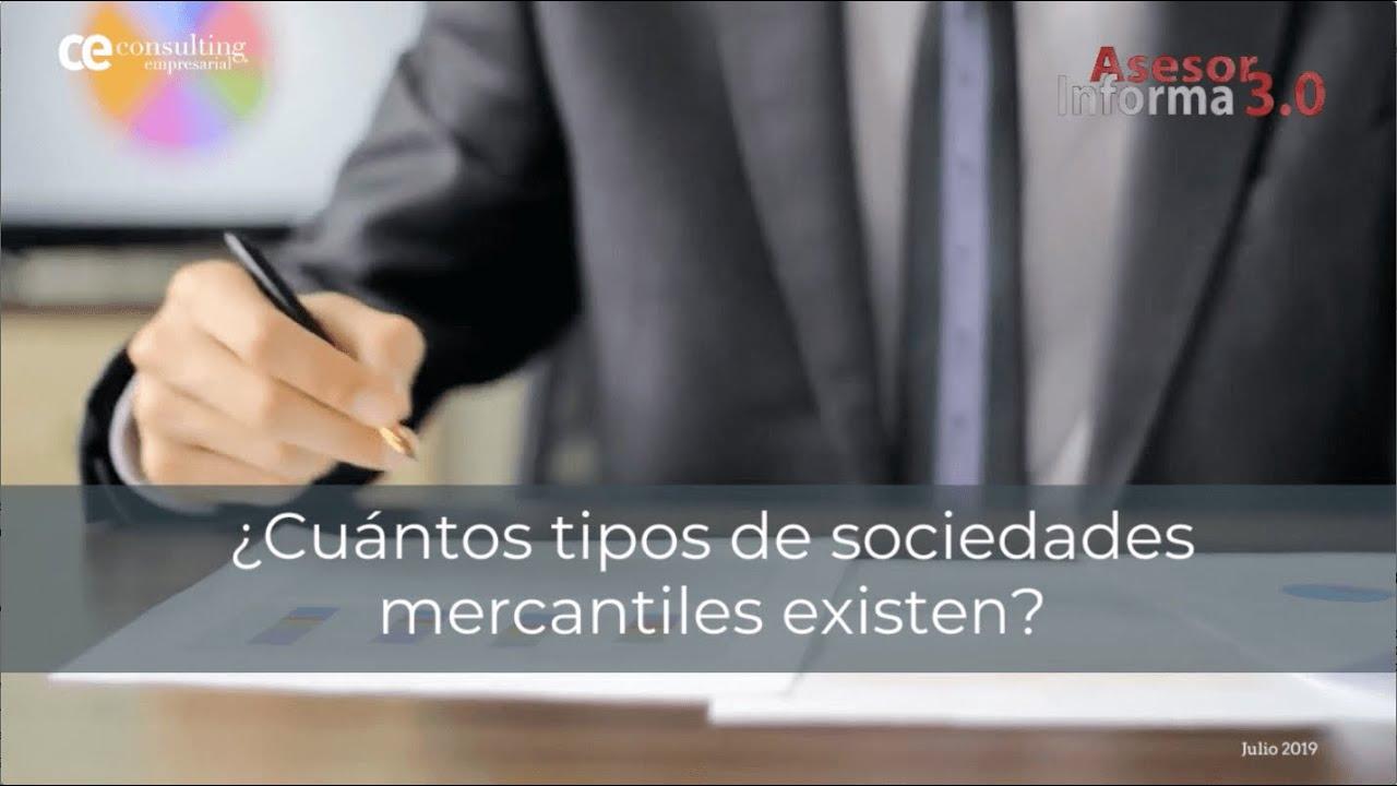 ¿Cuántos tipos de sociedades mercantiles existen? | Asesor Informa 3.0