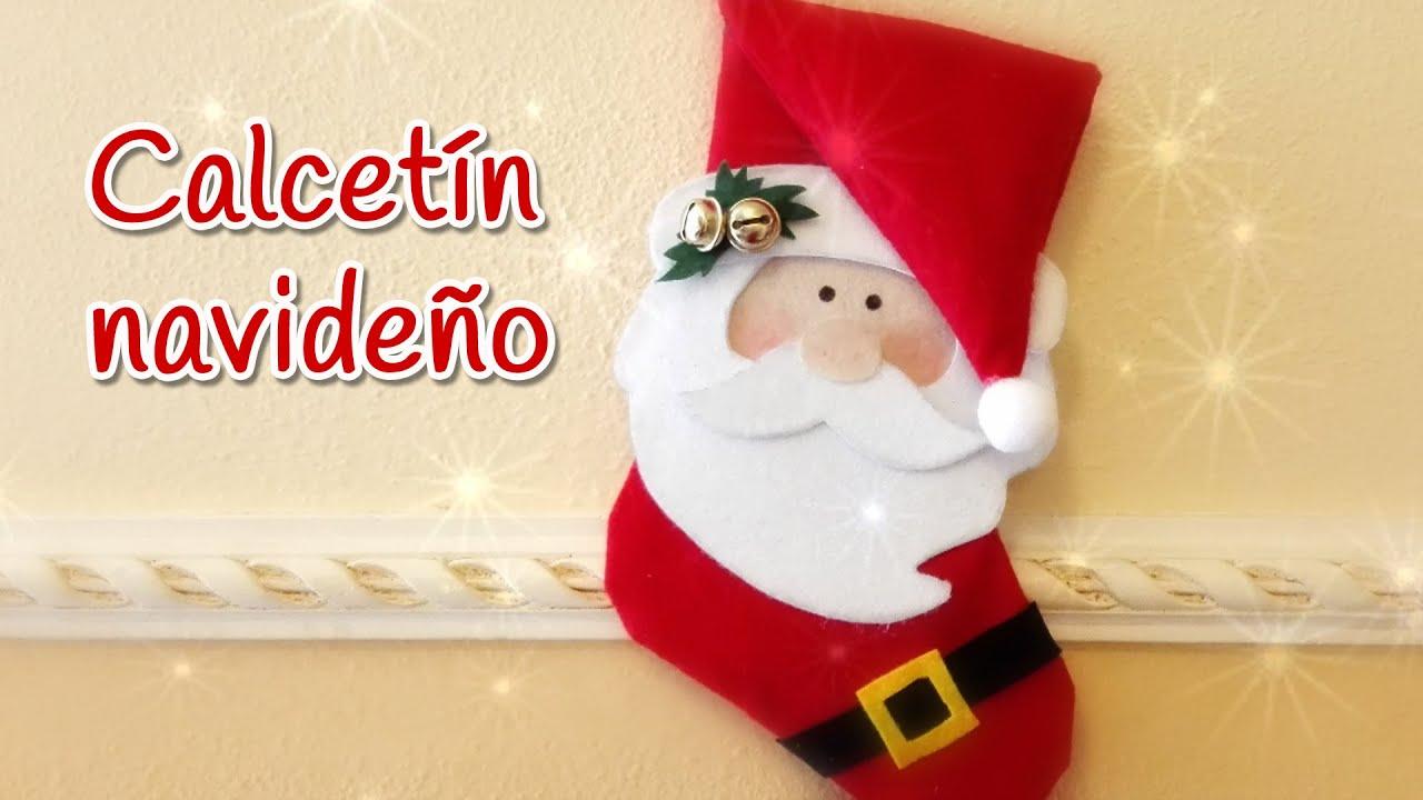 Manualidades para Navidad CALCETIN navideo bota SIN COSER