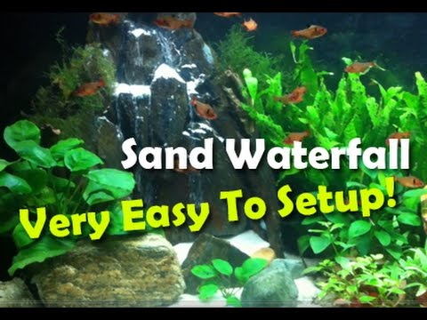 aquarium sand waterfall aquarium sand setup easy youtube. Black Bedroom Furniture Sets. Home Design Ideas