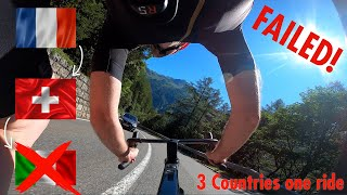 EPIC FAIL! TRYING TO CYCLE MY WAY THROUGH 3 COUNTRIES