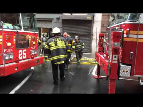 FDNY RESPONDING TO, ON SCENE & BATTLING A 10-75 COMMERCIAL FIRE ON WEST 65TH STREET IN MANHATTAN.